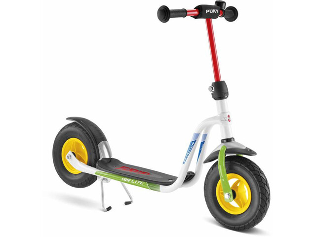 Puky R 03 L Balloon Scooter Niños, white/kiwi